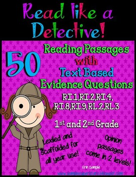 Read Like a Detective! {50 Passages with Text-Based Evidence Questions}
