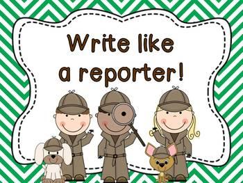 Read Like a Detective, Write Like a Reporter posters