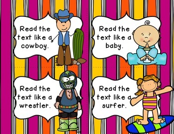 Read Like a... (Fluency Building Task Cards)