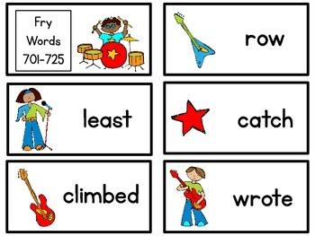 Read Like a Rock Star {Fry Words 701-800}