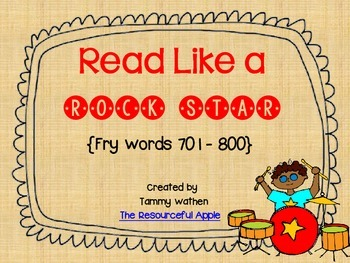 Read Like a Rock Star {Fry Words 701-800}