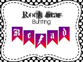 """Read Like a Rock Star"" bunting"
