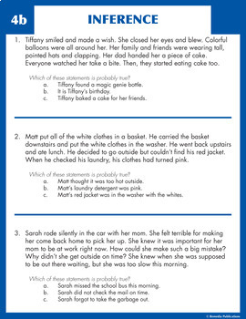 Read & Make Inferences (Reading Level 2.0-3.5)