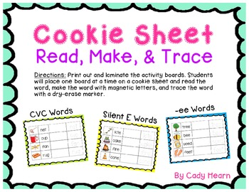 Read, Make, & Trace Cookie Sheet Literacy Center