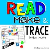Read, Make & Trace Letter Mats