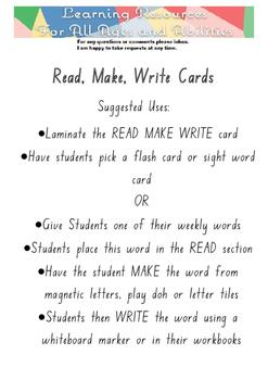 Read, Make, Write