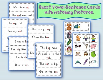 Read & Match Activity (Short Vowels)