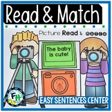 Read & Match Center {Easy Sentences}