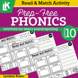 Read & Match | Prep-Free Phonics | Distance Learning