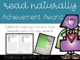 Read Naturally Achievement Award
