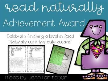 Read Naturally Achievement Award