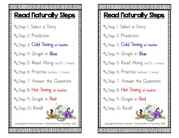 Read Naturally {Student Steps Bookmark}- Freebie