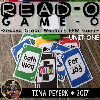Read-O Game-O: Second Grade Wonders HFW Card Game Unit One