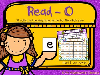 Read-O: Roll and read vowel bingo games