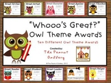 Read OWL About It: Great Student Awards (Owl Theme)