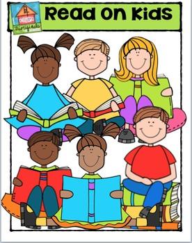 Read On Kids {P4 Clips Trioriginals Digital Clip Art}