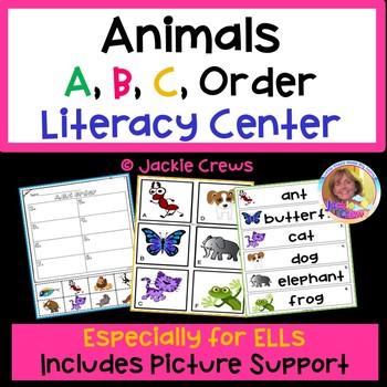 Animal A,B,C Order Literacy Game