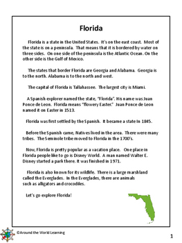 Reading Passages: Florida