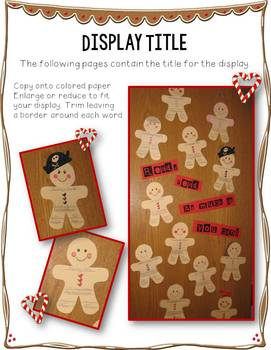 The Gingerbread Man Bulletin Board Display FREE Read! Read! As Much As You Can!