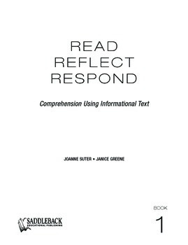 Read, Reflect, Respond Book 1