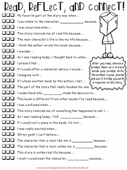 50 Reading Response Prompts