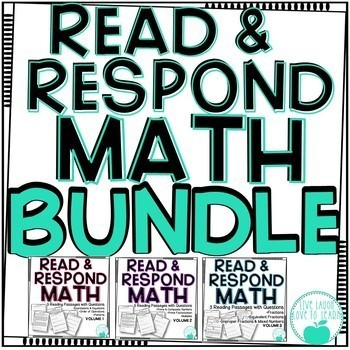 Read & Respond About Math ~BUNDLE~