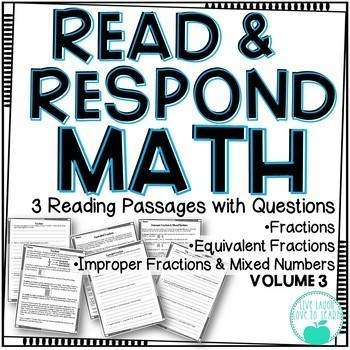 Read & Respond About Math - BUNDLE
