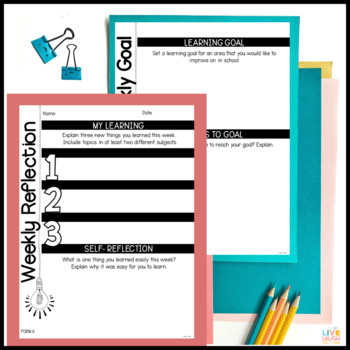 Weekly Learning Reflection and Goal Setting Forms
