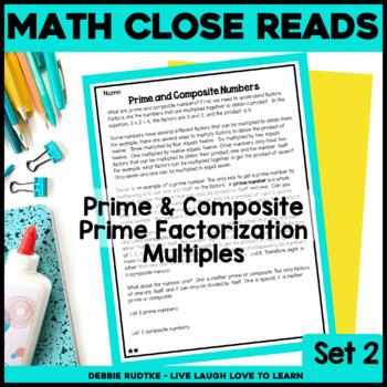 Read & Respond About Math ~Vol.2~ Prime/Composite, Factorization, & Multiples