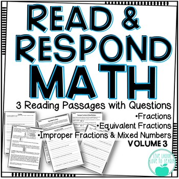 Read & Respond About Math ~Vol.3~ Fractions