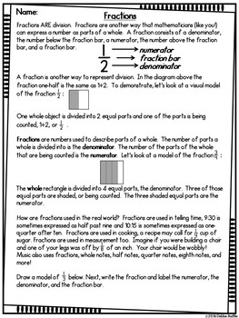 Read & Respond About Math - Fractions - Volume 3