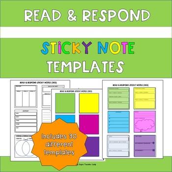 Read & Respond Sticky Note Templates