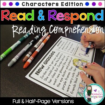 Read & Respond Task Cards: Character Edition. Two Versions