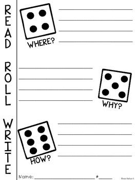 Read, Roll, Write {A Comprehension Dice Game}