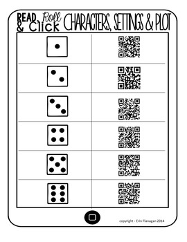 iPad QR Reading Response Dice Game for Centers:  Read, Roll & Click.