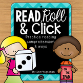 iPad QR Reading Response Dice Game for Centers:  Read, Rol
