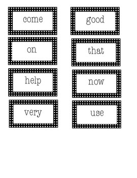Roll, Say and Keep Unit 1 First Grade Treasures- Sight Words