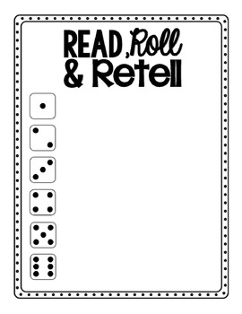 Read, Roll and Retell Organizer