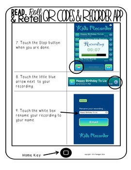 iPad QR Reading Response Dice Game for Centers - Read, Roll, and Retell