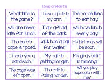 Read, Search, and Write: Long Vowel Spelling patterns
