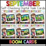 September Digital Task Cards | Boom Cards™ | Distance Learning