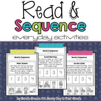 Read & Sequence! {everyday activities}