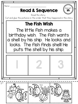Read & Sequence! {short vowels & digraphs}