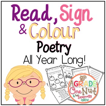 Read, Sign and Colour Poetry...All Year! {Reading, Fluency