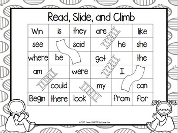 Read, Slide, and Climb:  NO PREP Sight Word Game