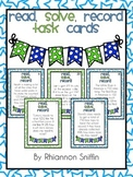 Read, Solve, Record: Addition and Subtraction Word Problem Task Cards
