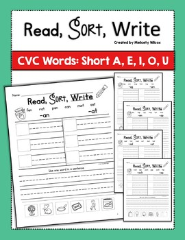 Word Sorts with Short Vowels BUNDLE