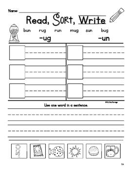 Word Sorts with Short Vowels Worksheets BUNDLE