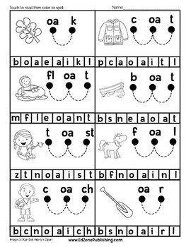 Read & Spell Sound Chunking Worksheets