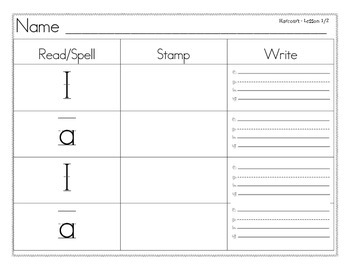 Read Spell Stamp Write High Frequency Word Wall Words Harcourt Kindergarten